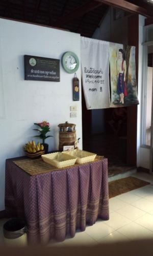 チェンマイ薬草サウナのロッカー入り口
