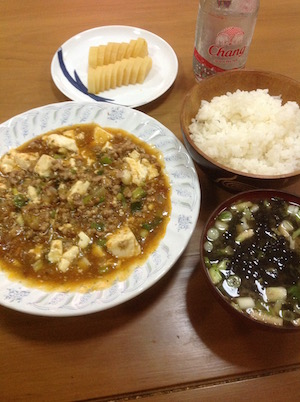 タイで自炊した麻婆豆腐