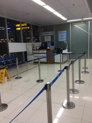 スワンナプーム空港のリエントリー