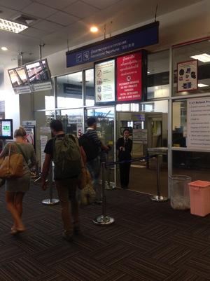 チェンマイ空港国際線入り口