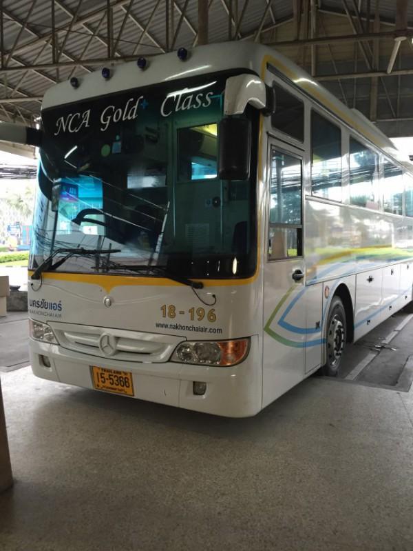 ナコンチャイエアーのバス|チャンマイからパタヤ