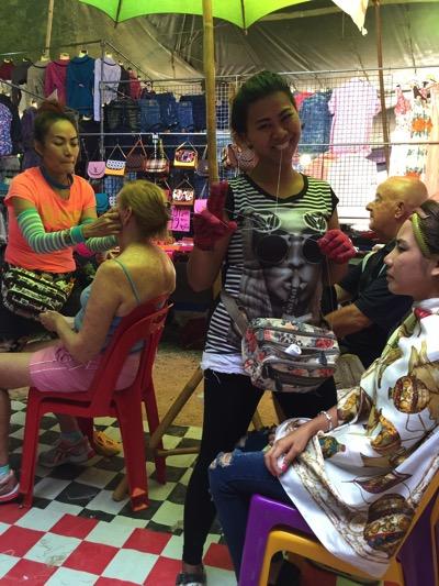 パタヤのローカル市場にある産毛脱毛