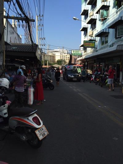 パタヤ市場への道順