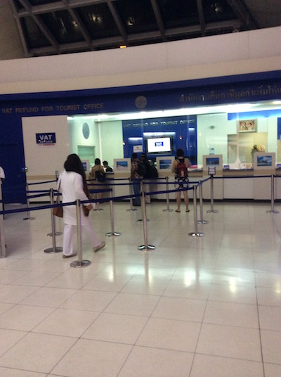 スワンナプーム空港の付加価値税の払い戻し場所