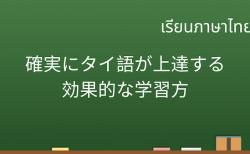 初心者でも確実に最速でタイ語を習得する効果的な学習方 (1)
