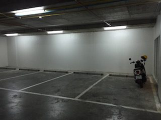 グランドベラホテルバイク駐車場