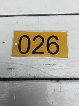 チェンンマイ観光ビザ申請の番号札