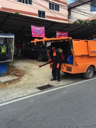 タイの蚊の除去作業