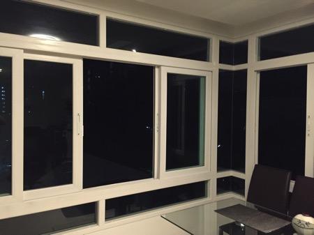 チェンマイコンドミニアの窓