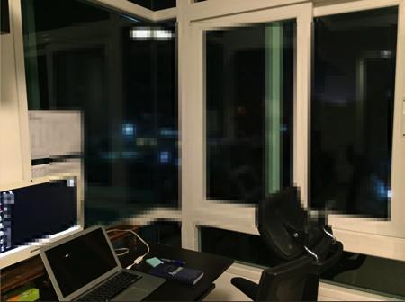 チェンマイコンドミニアムの窓