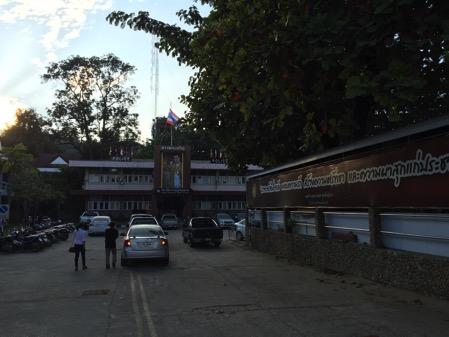 大通り沿いあるタチレクの警察署