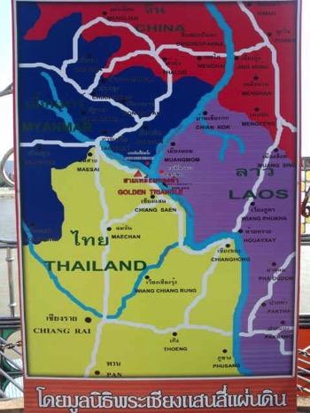 ゴールデントライアングルの地図