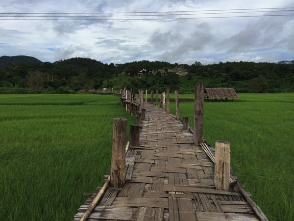 メーホンソン県にある竹でできたタイ最長の橋Su Tong Pae Bridge 4