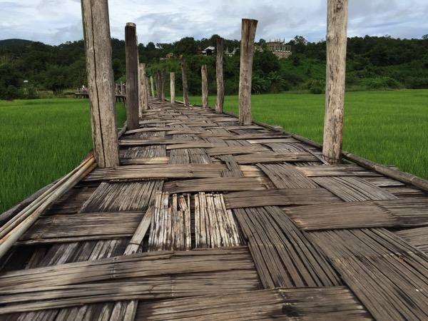 メーホンソン県にある竹でできたタイ最長の橋Su Tong Pae Bridge 3