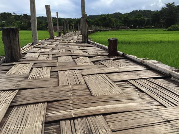 メーホンソン県にある竹でできたタイ最長の橋Su Tong Pae Bridge 1