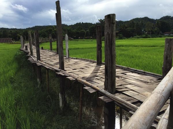 メーホンソン県にある竹でできたタイ最長の橋Su Tong Pae Bridge 2