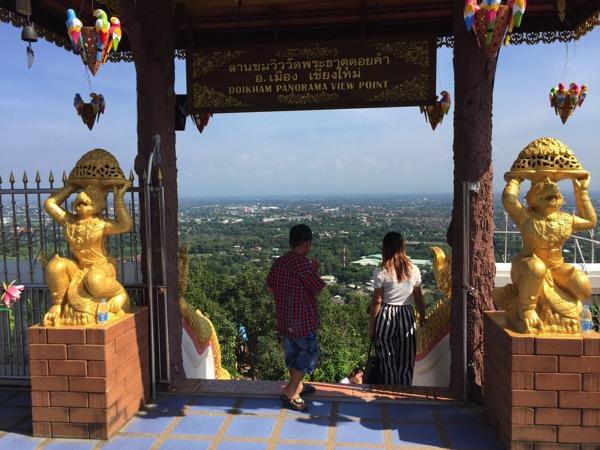 ドーイカム寺院からみるチェンマイ市内 1