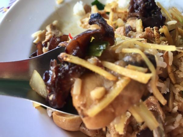 豚肉とキクラゲの生姜炒め|カオラードパットキンのアップ写真