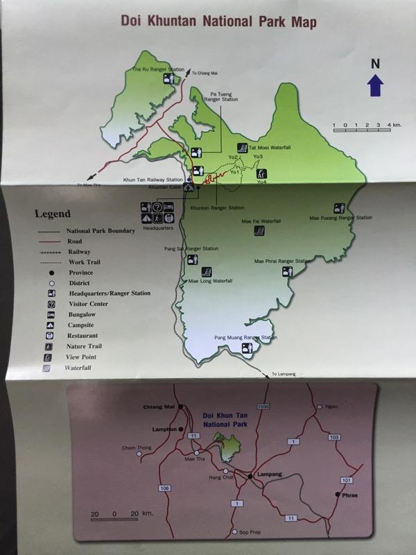 クンターン山のパンフレットの地図