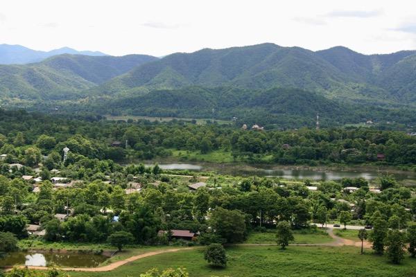 ムアンオン洞窟からの風景