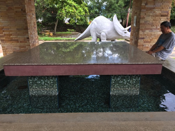 ポンプラバート温泉の足湯 1