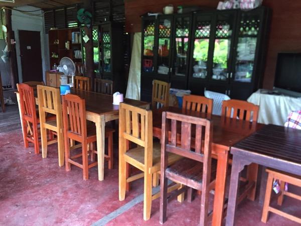 ランナー温泉の食堂