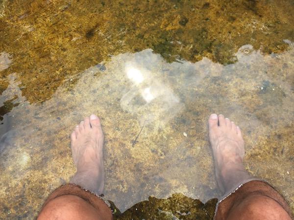 タウィーシン天然温の足湯