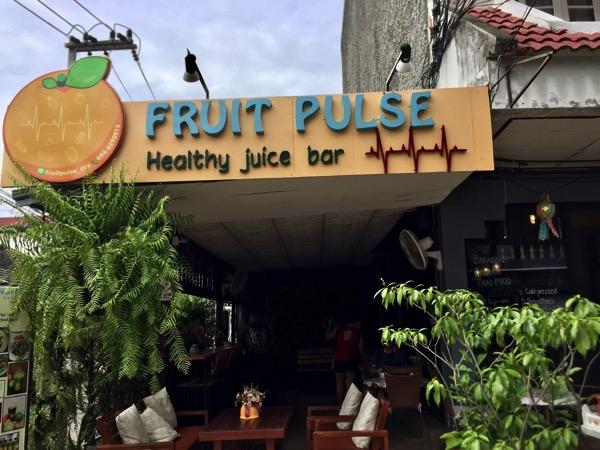 チェンマイのFRUIT PULSE Healthy juice bar