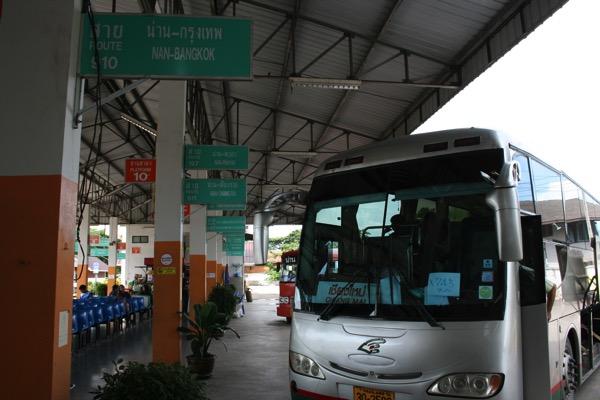 ナーン県のバスターミナル 県外長距離バス