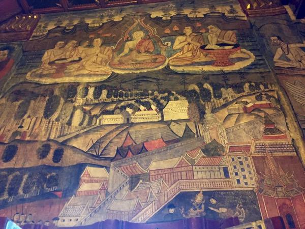 プーミン寺院の壁画昔のジャータカ