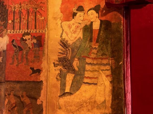 プ ー ミ ン 寺 院の壁画