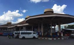 チェンマイバスターミナル1 各 路線バスの行き先リスト