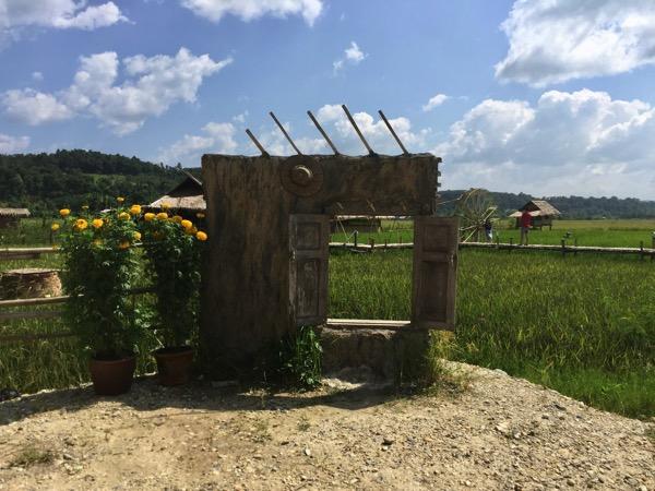 田園カフェー記念写真を撮る場所