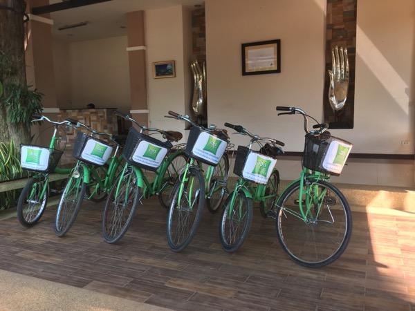 ホテルのレンタルバイク
