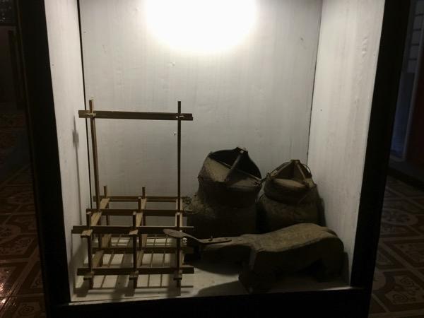 タイルー族博物館でで展示してあった道具