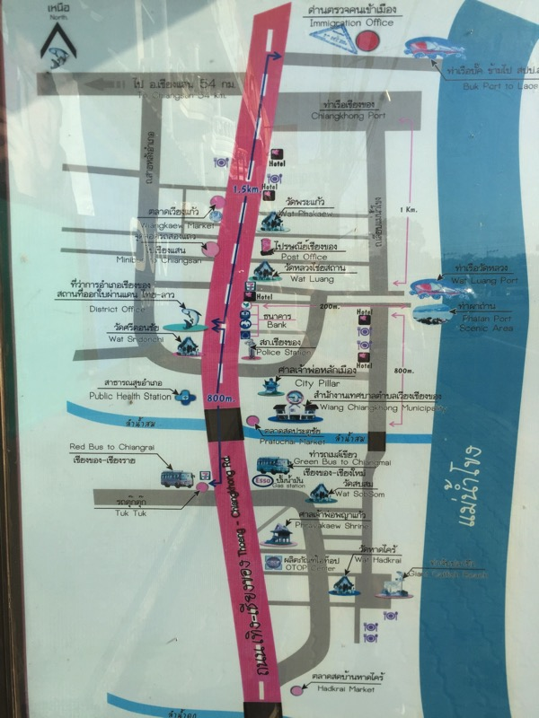 チェンコーンの町の地図