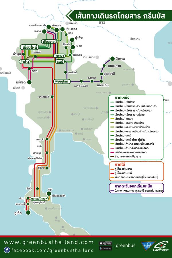 グリーンバスの運行ルート