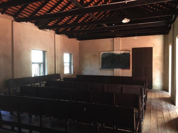 ランプーン博物館の教室のレプリカ