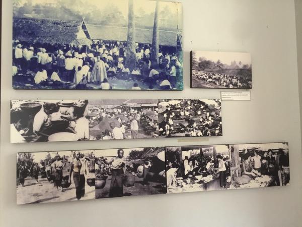 ランプーン博物館の当時の人々の暮らしぶりがうかがえるような写真