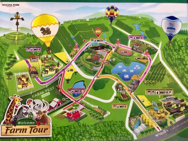 シンハーパークの地図