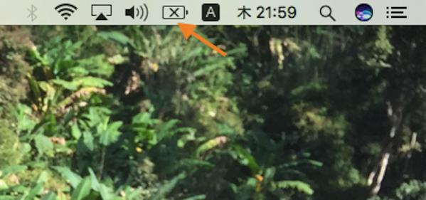 MacBook Airのバッテリー残量に×(バツ)が表示