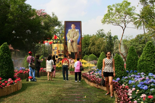 チェンマイフラワーフェスティバルのノーンブアクハート公園−1