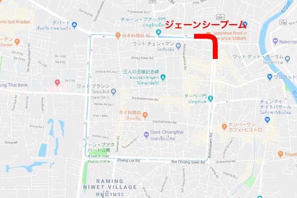 ジェーンシープームの地図