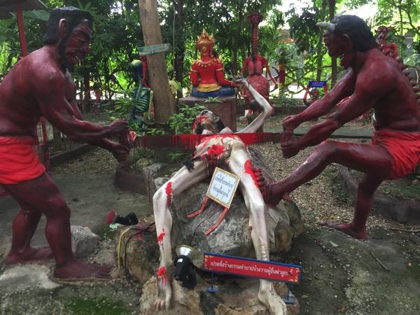 チェンマイの地獄寺で殺人を犯した者が落ちる地獄-2