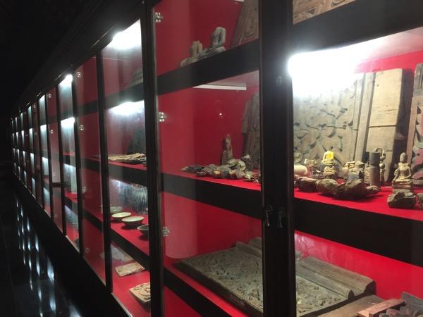 ワットプラタートラムパーンルアンの博物館に展示されている出土品