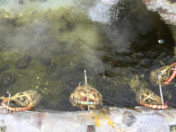 サンカムペーン温泉の温泉卵を作る場所