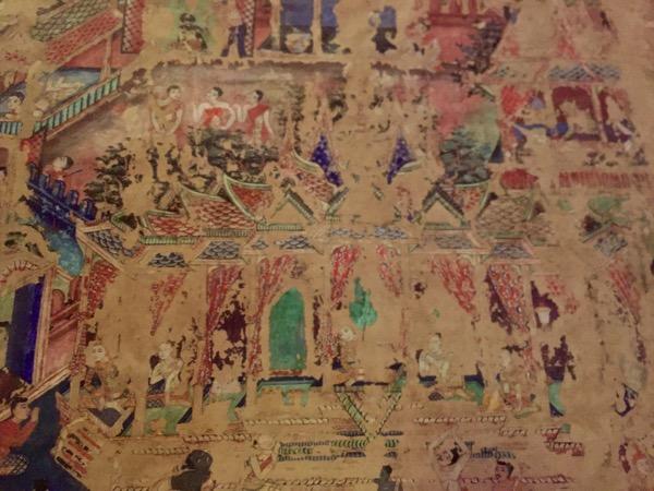 ワットプラシンの仏堂の壁画