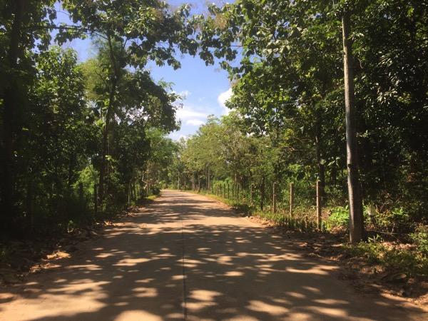 ボー・ナームローン温泉の入り口から温泉までダート路