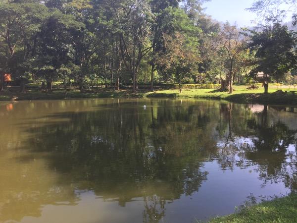 ドイファホムポック国立公園の間欠泉の池