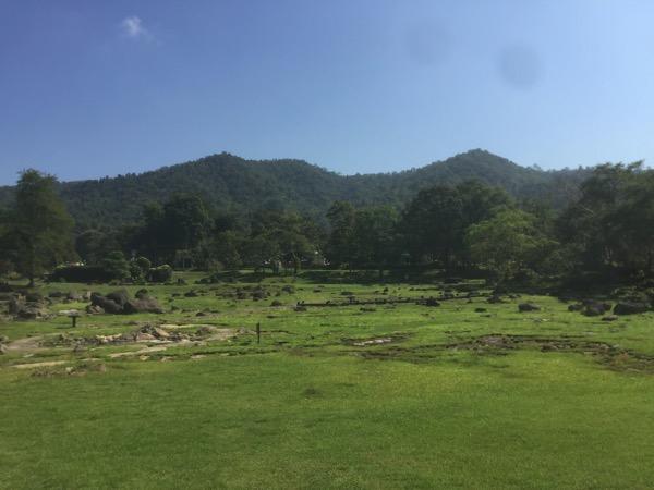 ファーン温泉に広がる盆地風景